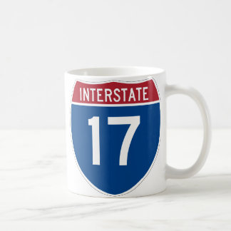 Muestra de la carretera de la autopista 17 (I-17) Taza Básica Blanca
