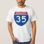 Muestra de la carretera de la autopista 35 (I-35) Playeras