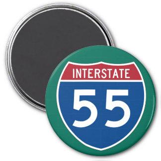 Muestra de la carretera de la autopista 55 I-55 Imán