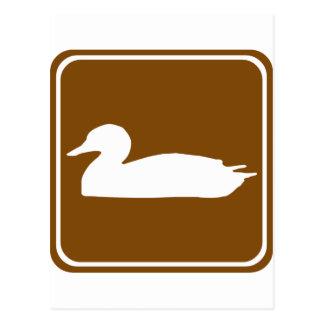 Muestra de la carretera de la caza del pato 1 postal