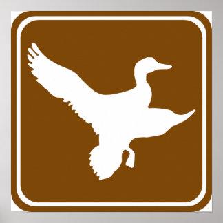 Muestra de la carretera de la caza del pato (2) póster