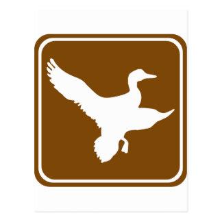 Muestra de la carretera de la caza del pato (2) postales