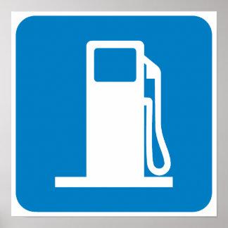 Muestra de la carretera de la gasolinera poster