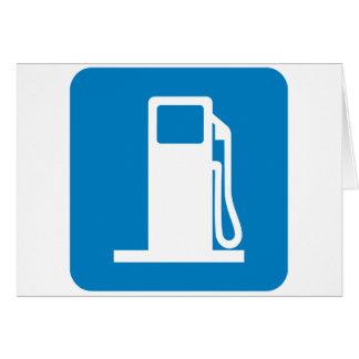 Muestra de la carretera de la gasolinera tarjeta de felicitación