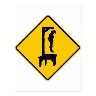 Muestra de la carretera de la horca a continuación postal