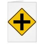 Muestra de la carretera de la intersección del tarjeta de felicitación