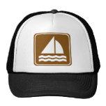 Muestra de la carretera de la navegación gorras