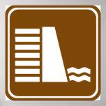 Muestra de la carretera de la presa o del depósito posters