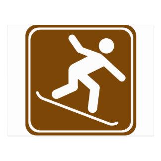 Muestra de la carretera de la snowboard postal