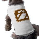 Muestra de la carretera de la tienda de regalos camisa de perro