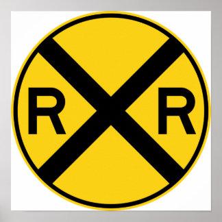 Muestra de la carretera de la travesía de ferrocar posters