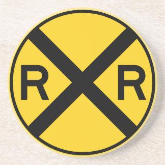 Muestra de la carretera de la travesía de ferrocar posavasos diseño