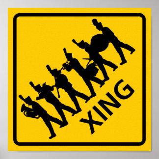 Muestra de la carretera de la travesía de la banda póster