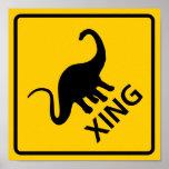 Muestra de la carretera de la travesía del dinosau impresiones