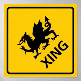 Muestra de la carretera de la travesía del dragón impresiones