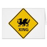 Muestra de la carretera de la travesía del dragón tarjeton