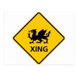 Muestra de la carretera de la travesía del dragón tarjetas postales