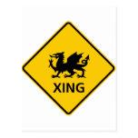 Muestra de la carretera de la travesía del dragón tarjeta postal