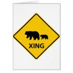 Muestra de la carretera de la travesía del oso felicitación