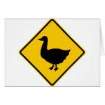Muestra de la carretera de la travesía del pato tarjeta