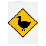 Muestra de la carretera de la travesía del pato felicitaciones