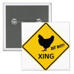 Muestra de la carretera de la travesía del pollo pins
