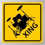 Muestra de la carretera de la travesía del tambor posters