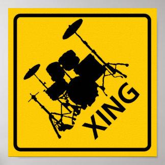Muestra de la carretera de la travesía del tambor póster