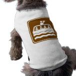 Muestra de la carretera del barco del viaje camisetas mascota