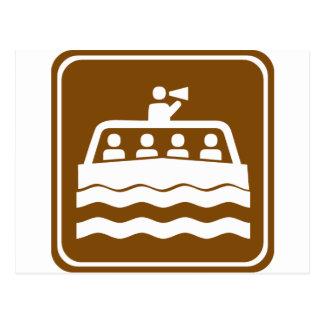Muestra de la carretera del barco del viaje postal