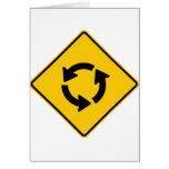 Muestra de la carretera del círculo de tráfico tarjeta de felicitación