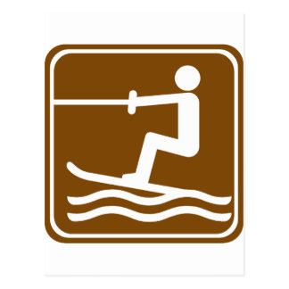 Muestra de la carretera del esquí acuático tarjetas postales