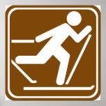 Muestra de la carretera del esquí del campo a trav impresiones