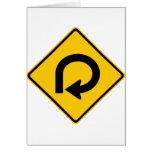 Muestra de la carretera del lazo tarjeta de felicitación