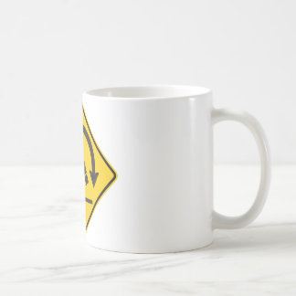 Muestra de la carretera del peligro de la taza de café