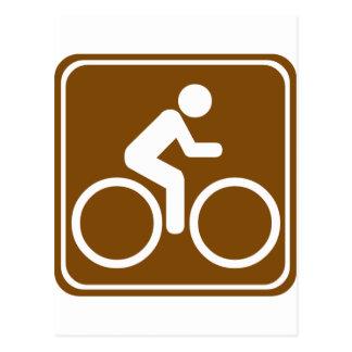 Muestra de la carretera del rastro de la bici postales