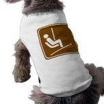 Muestra de la carretera del remonte camisetas de mascota