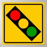 Muestra de la carretera del semáforo a continuació póster