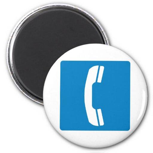Muestra de la carretera del teléfono imán redondo 5 cm