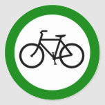 Muestra de la carretera del tráfico de bicicleta etiquetas redondas