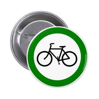 Muestra de la carretera del tráfico de bicicleta pins