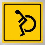 Muestra de la carretera del tráfico de la silla de impresiones