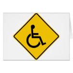Muestra de la carretera del tráfico de la silla de tarjeta