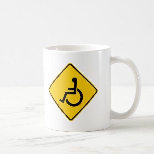 Muestra de la carretera del tráfico de la silla de taza de café