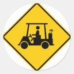Muestra de la carretera del tráfico del carro de g etiquetas redondas