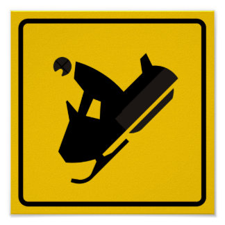 Muestra de la carretera del tráfico del Snowmobile Posters