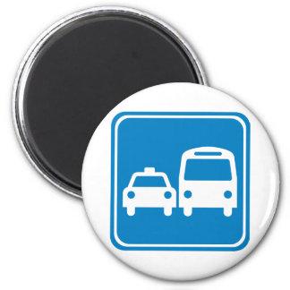 Muestra de la carretera del transporte de tierra imán de frigorifico