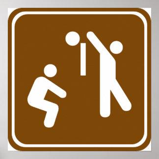 Muestra de la carretera del voleibol impresiones
