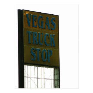 Muestra de la carretera - parada de camiones de postal