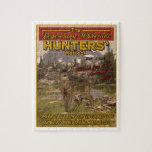 muestra de la caza del vintage puzzle con fotos